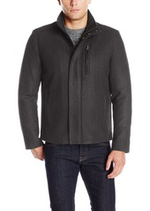 Cole Haan Signature Men's Wool Melton Jacket with Knit Collar