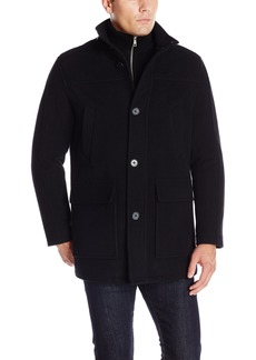 Cole Haan Signature Men's Wool Plush Car Coat with Attached Bib