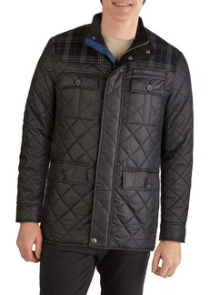 Cole Haan Signature Mixed Media Quilted Jacket