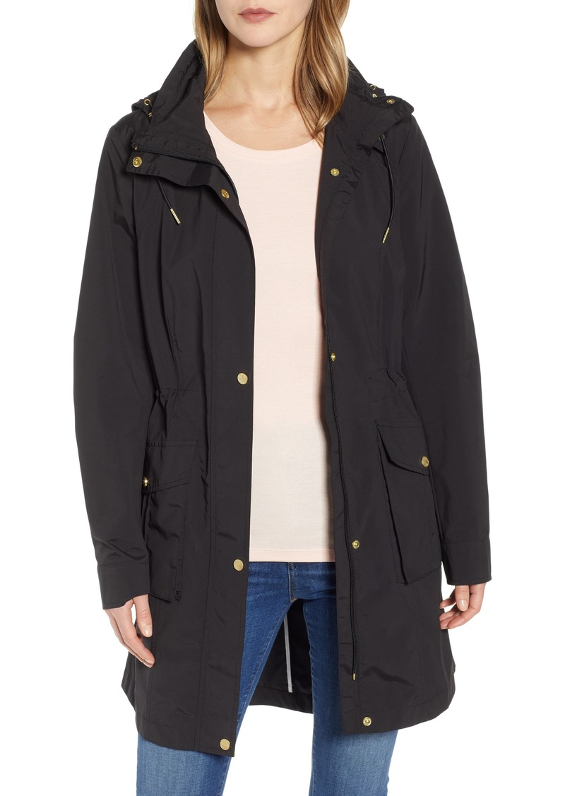 Cole Haan Signature Packable Rain Jacket with Removable Hood
