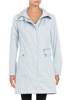COLE HAAN SIGNATURE Packable Single Breasted Rain Coat