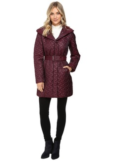 Cole Haan Signature Quilted Coat with Hood