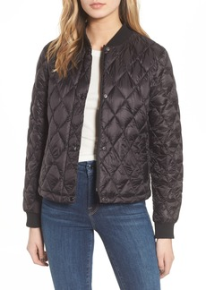 Cole Haan Signature Quilted Down Bomber Jacket