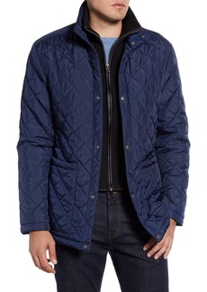 Cole Haan Signature Quilted Jacket with Knit Bib