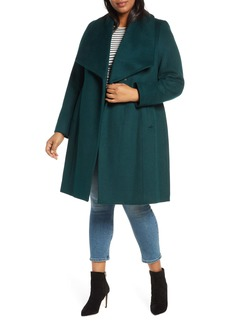 Cole Haan Signature Slick Wool Blend Wrap Coat (Plus Size)