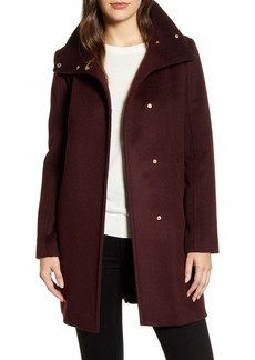 Cole Haan Signature Snap Front Wool Blend Coat