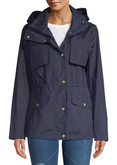Cole Haan Signature Snap Front Zip Collar Jacket