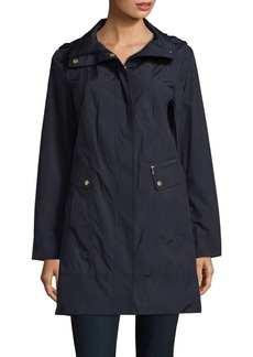 Cole Haan Signature Tonal Stitched Rain Jacket