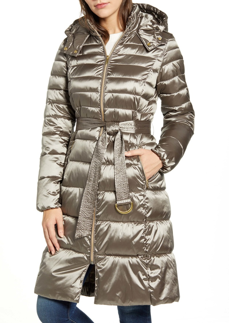 Cole Haan Signature Water Resistant Belted Quilted Coat