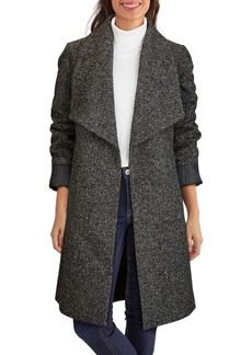 Cole Haan Signature Wool Blend Tweed Wrap Coat (Women)