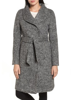 Cole Haan Signature Wool Shawl Collar Wrap Coat