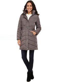 Cole Haan Single Breasted Belted Down Coat