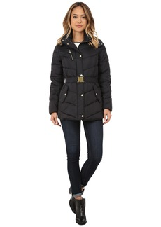 Cole Haan Single Breasted Down Jacket with Chevron Quilt
