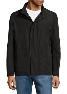 Cole Haan Solid Packable Rain Jacket