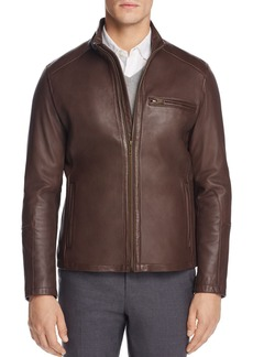 Cole Haan Streamlined Moto Leather Jacket