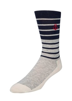 Cole Haan Stripe Anchor Crew Socks