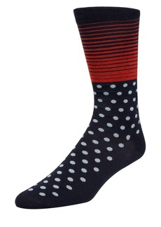 Cole Haan Stripes & Dots Crew Socks