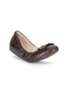 Cole Haan Tali Alligator-Embossed Leather Ballet Flats
