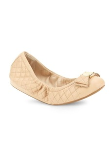 Cole Haan Tali Bow Quilted Leather Ballet Flats