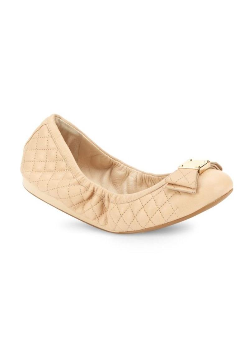 3de438582a5 Cole Haan Cole Haan Tali Bow Quilted Leather Ballet Flats