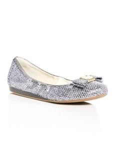Cole Haan Tali Metallic Glitter Bow Ballet Flats