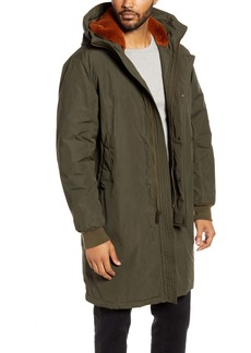 Cole Haan Tech Down Parka with Faux Fur Trim
