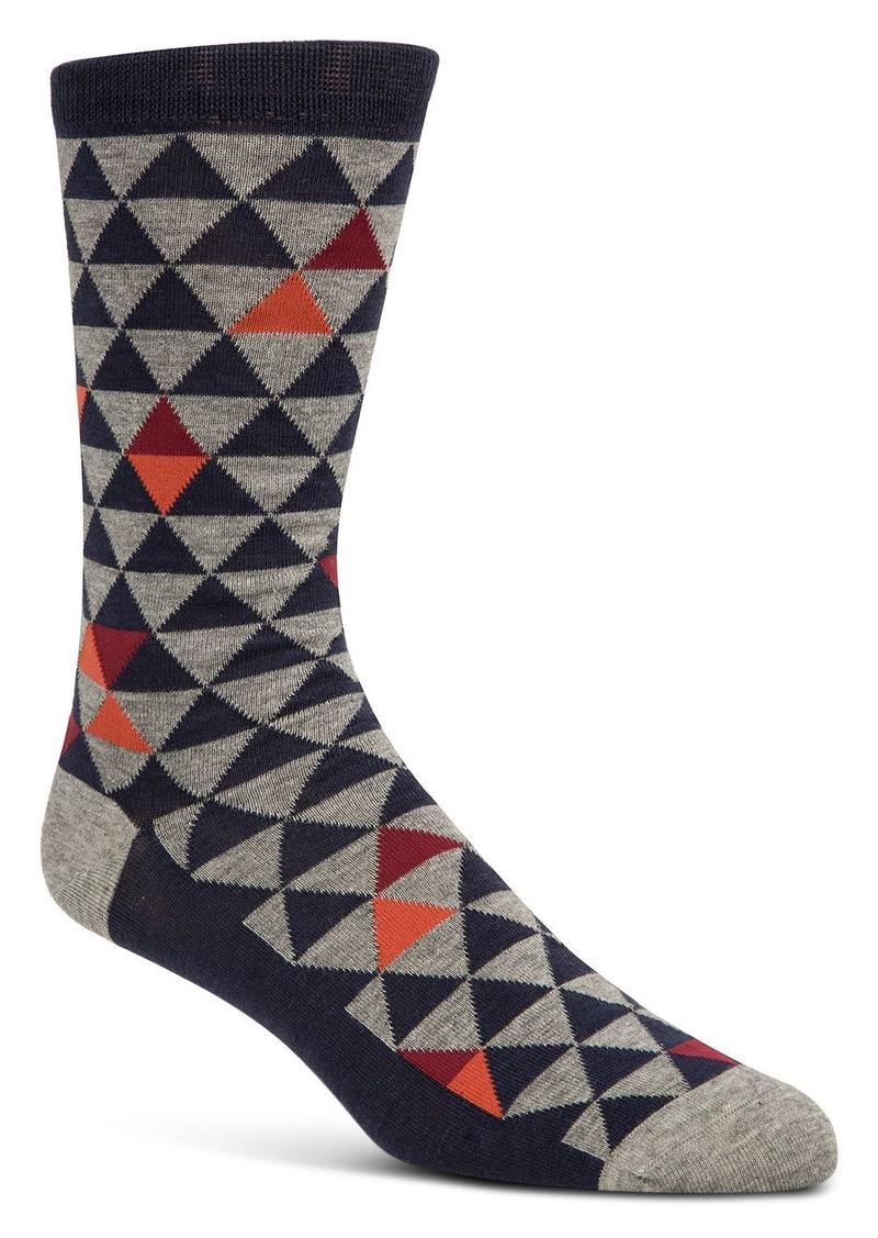 Cole Haan Triangle-Print Socks