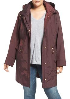 Cole Haan Water Resistant Rain Jacket (Plus Size)