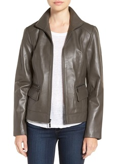 Cole Haan Wing Collar Leather Jacket