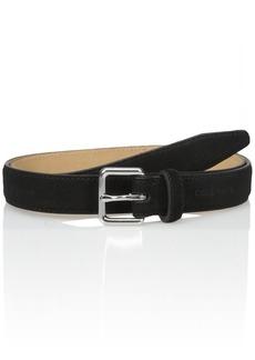Cole Haan Women's 1-inch Suede Flat Strap Belt black LARGE