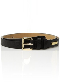 Cole Haan Women's 20mm Pebble Leather Belt black LARGE