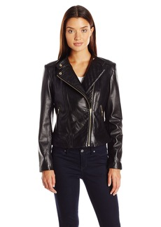 Cole Haan Women's Assymetrical Moto Jacket