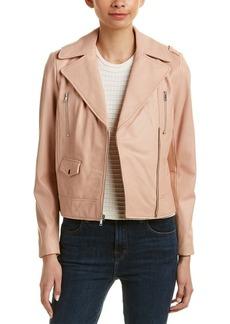 Cole Haan Women's Asymmetrical Leather Moto Jacket