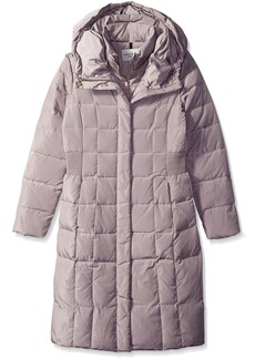Cole Haan Women's Belted Down Coat with Side Waist Detail