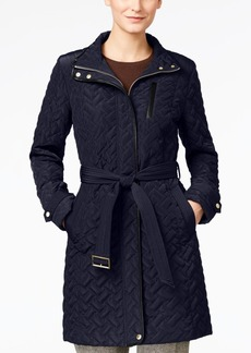 Cole Haan Women's Belted Quilted Jacket  XL