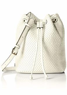 Cole Haan Women's Bethany Woven Bucket Bag ivory