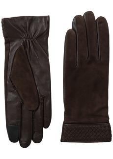 Cole Haan Women's Braided Cuff Suede Glove with Tech