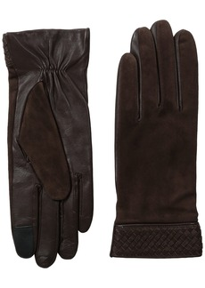 Cole Haan Women's Braided Cuff Suede Glove with Tech
