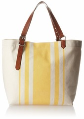 Cole Haan Women's Canvas Stripe Tote natural-sunset gold