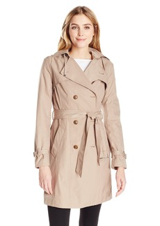 Cole Haan Women's Double Breasted Cotton Trench Coat