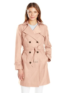 Cole Haan Women's Double Breasted Trench Coat  Extra Small