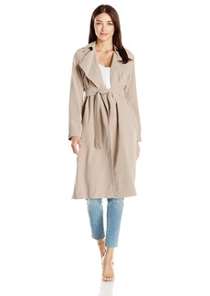 Cole Haan Women's Drapey Loose Belted Trench  XL