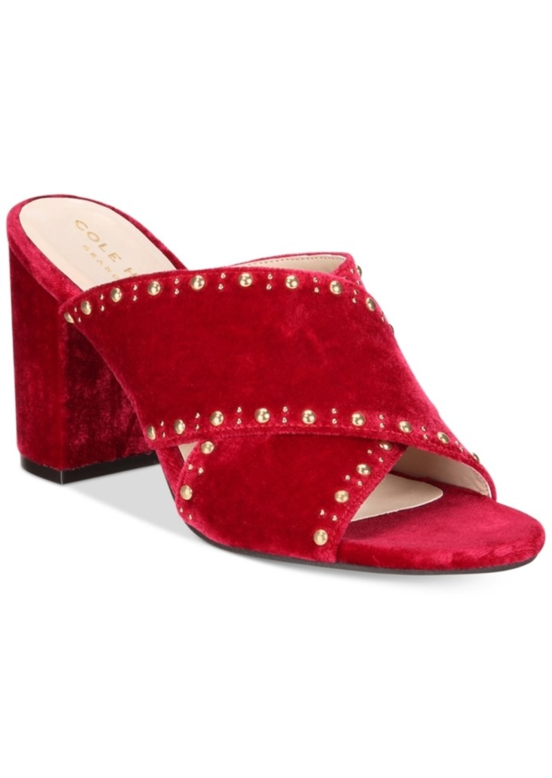e70cee8493a Cole Haan Cole Haan Gabby Studded Slip-On Block-Heel Sandals