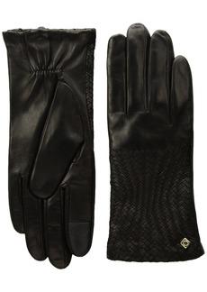 Cole Haan Women's Genevieve Woven Glove black LARGE