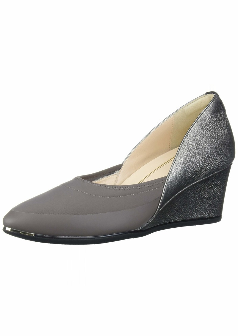 Cole Haan Women's Grand Ambition Sport Wedge (75MM) Pump Strmcld M.Neo &M.RUBB Rand/A.Silv.Met Tumble Leather/Black Web/Black Strmcld&Ch Fxa RUBB Tab/Black Sole Edge &OS