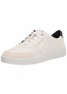 Cole Haan womens Grand Crosscourt Street Lace Up Sneaker Ivory Leather Suede Birch Suede  US