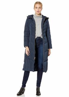 Cole Haan Women's Hodded Maxi Taffeta Down Coat