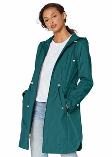 Cole Haan Women's Hooded anorack rain Coat