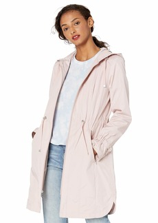 Cole Haan Women's Hooded anorack rain Coat  S