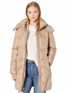Cole Haan Women's Hooded Essential Down Coat  L